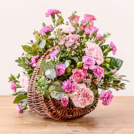 Modern pink basket